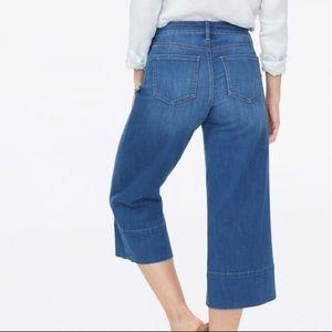 NYDJ Wide Leg Crops Sz 4